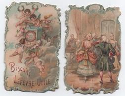 Petit Calendrier De Poche / Retaillé/ Biscuits LEFEVRE-UTILE/ Danses De Salon /1898        IMA494 - Calendriers