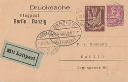 DR Privat-Ganzsache Minr.PP73 A2/02 Berlin - Danzig Gelaufen Geprüft - Deutschland