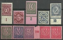 DR 1920,  Dienst Nr.66-74, Postfrisch - Officials