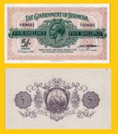 BERMUDA 5 SHILLINGS 1920 - Copy- Replica - Bermudes