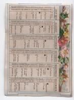 Petit Calendrier De Poche / Retaillé/ Rimmel's Almanach/Héroïnes Of Italian Poets/1873       IMA472 - Calendars