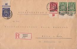 DR R-Brief Mif Minr.2x 344 UR,345 UR,346 UR Stuttgart Bahnhof 19.3.26 - Briefe U. Dokumente