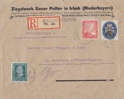 DR R-Brief Mif Minr.368,373,377 Wildenberg Gel. Nach Mainburg - Briefe U. Dokumente
