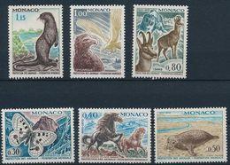MONACO 1970 WWF 20th Anniversary Apollo Butterfly, Basque Pony, Seal, Izard (Yv 809 To 814 ; Mi 966 To 971) MNH ** 12.50 - W.W.F.