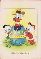 Old Original Postcard 1962 Walt Disney Donald Duck Vrolijke Paasfeest Happy Easter Grote Kaart - Non Classés