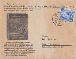 DR Werbebrief EF Minr.742 Kassel 22.6.40 Gel. In Schweiz Zensur - Deutschland