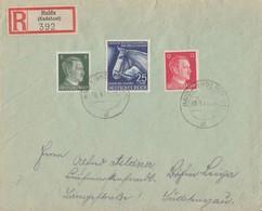 DR R-Brief Mif Minr.779,784,788 Haida 30.9.41 Vignette Ansehen !!!!!!!!! - Deutschland