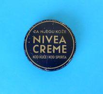 YUGOSLAVIAN KINGDOM - NIVEA CREME Vintage Tin Box Biersdorf & Co Zagreb Maribor Vieille Boîte Alte Zinn Vecchia Latta RR - Perfume & Beauty