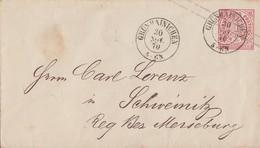 NDP GS-Umschlag 1 Gr. K2 Grünhainichen 30.11.70 Gel. Nach Schweinitz - Norddeutscher Postbezirk