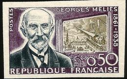 YVERT 1284 CINEMA - GEORGES MÉLIÈRS - NON DENTELÉ, - France