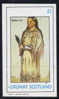 10340 Grunay 1982 N American Indians Imperf Souvenir Sheet Unmounted Mint (1 Value) - American Indians