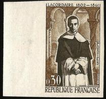 YVERT 1287 LACORDAIRE - NON DENTELÉ,EN BORD DE FEUILLE - France