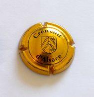 RARE CAPSULE DE MOUSSEUX - PLAQUE MUSELET - CRÉMANT D'ALSACE BLASON - NOIR & OR - Sparkling Wine