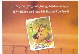 Maroc  Album N° 1517 De 2009 Timbre + FDC Sport 25ème Grand Prix Hassan 2 De Tennis - Marruecos (1956-...)