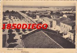 MARINA DI CARRARA - PANORAMA F/GRANDE VIAGGIATA ANIMATA 1952 - Massa