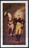 24204 (space) Dhufar 1976 USA Bicentenary (George Washington) Imperf Deluxe Sheet (5r Value) Opt'd APOLLO II 10th An - Space
