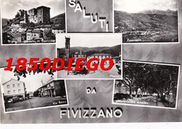 SALUTI DA FIVIZZANO - VEDUTINE F/GRANDE VIAGGIATA ANIMATA - Massa