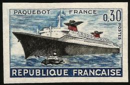 YVERT 1325 PAQUEBOT FRANCE - NON DENTELÉ, - France