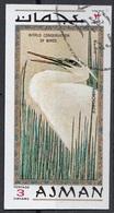 "911 Ajman 1971  "" Egretta Garzetta ""  Quadro Dipinto Da Hiroshige Paintings  World Conservation Of Birds - Ajman"