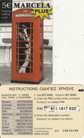 GREECE - Marcela Plus Prepaid Card 5 Euro(large CN), Used - Greece