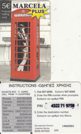 GREECE - Marcela Plus Prepaid Card 5 Euro(small CN), Used - Greece