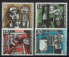 Saarland 1957 // Mi. 404/407 O (023..139) - 1957-59 Federation