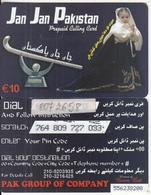 GREECE - Jan Jan Pakistan, Amimex Prepaid Card 10 Euro(807 2658 With Sticker), Used - Greece
