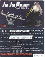 GREECE - Jan Jan Pakistan, Amimex Prepaid Card 10 Euro(807 2658), Used - Greece