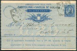 1894 Italy Cartolina Vaglia. Siena - 1878-00 Umberto I