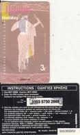 GREECE - Olympian Gods/Jupiter, Amimex Prepaid Card 3 Euro(807 4000), Tirage %2000, 01/04, Used - Greece