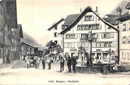 Wassen - Dorfplatz (top Animation, Attelage Boeus, Wehrli) - UR Uri