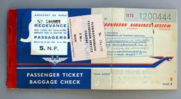 Billet D'avion SAS Paris Wien 1962 + Taxes Airports Coll Schnabel - Europe