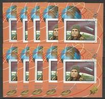 12x MANAMA - Space - Gagarin - CTO - Red Overprint - Space