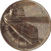 50 CHERBOURG SOUS-MARIN LE REDOUTABLE MÉDAILLE MONNAIE DE PARIS 2018 JETON MEDALS COINS TOKEN - Monnaie De Paris