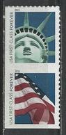 USA. Scott # 4518-19a, MNH Pair From ATM Booklet. Statue Of Liberty & Flag 2011 - Ongebruikt
