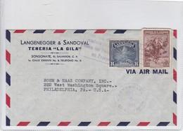 "LANGENEGGER & SANDOVAL. TENERIA ""LA GILA"" AIRMAIL. CIRCULATED SALVADOR TO USA. 1941.-BLEUP - El Salvador"