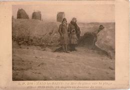 Cpa 59 Très Rare MALO-les-BAINS La Mer De Glace Sur La Plage Hiver 1928-1929 -34 Degrés En Dessous De 0 , Animée, Vierge - Malo Les Bains