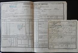 RARE ET ANCIEN DOCUMENT CHEMIN DE FER DU MÉDOC PAUILLAC 1844 PLM - Other