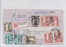 AIRMAIL. RECOMMANDE. CIRCULEE PERU TO SWEDEN 1950. VIA USA.-BLEUP - Guatemala