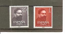 España/Spain-(MNH/**) - Edifil  1320-21 - Yvert  997-98 - 1951-60 Nuevos & Fijasellos