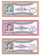 Russia - MMM Mavrodi Private Issue - 1, 10, 20 Biletov 1994 - Unc - Set 3 Banknotes - Russia