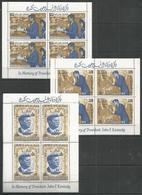 4x RAS AL KHAIMA - MNH - Famous People - Space - Kennedy - New Currency - Kennedy (John F.)