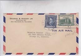 AIRMAIL. GEORGE B MASSEY JR. CIRCULEE EL SALVADOR TO CHICAGO. CIRCA 1960's.-BLEUP - El Salvador