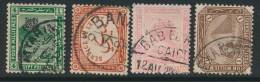 EGYPT, Postmarks ATTARIN, BANHA, BHAB EL KHALQ, ALEXANDRIA - Egypte