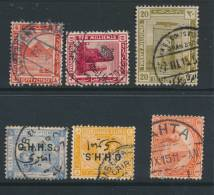 EGYPT, Six Postmarks - 1915-1921 Brits Protectoraat