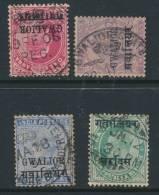 INDIAN STATES/GWALIOR, Four Postmarks - Gwalior