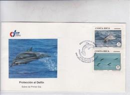 FDC. PROTECCION AL DELFIN. OBLIT SAN JOSE, COSTA RICA. 1993.-BLEUP - Costa Rica