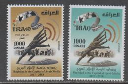 IRAQ, 2018, MNH , BAGHDAD CAPITAL OF ARAB MEDIA,2v - Stamps