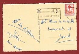 As Langstempel Griffe Op Postkaart 2 Scan - Postmark Collection