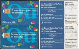 F462 Paire  TELECARTES B.N.V. T. 94  N° B44049005 AVEC Et SANS 2EME MORENO 94/04 - France